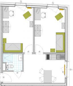 2er Apartment Plan